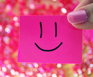 smile, pink, and happy image