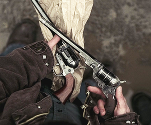 gun, dean winchester, and aesthetic image