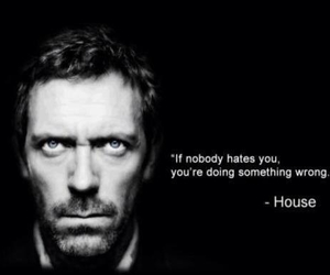 black, Dr. House, and house image