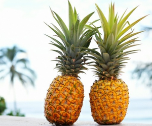 pineapple, summer, and food image