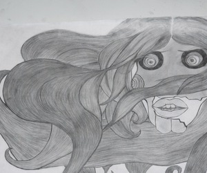art, cry, and pencil image