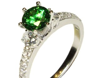 promise ring and emerald promise ring image