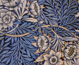 blue, decorative, and william morris image