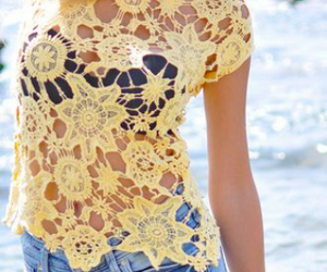 beach, boho, and outfit image