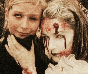 blood, scary, and wedding image