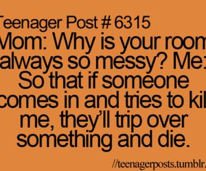 funny, mom, and room image