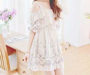 dress, cute, and white image