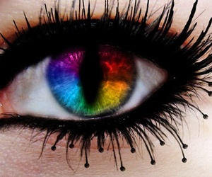 eye and rainbow image