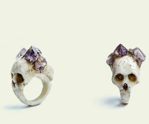 skull, ring, and amethyst image
