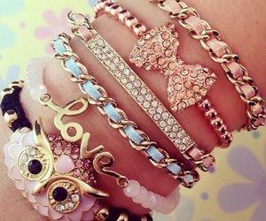 love, bracelet, and owl image