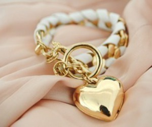 beaty, gold, and heart image