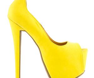 heels, high heels, and peep toes image