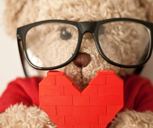 bear, love, and heart image