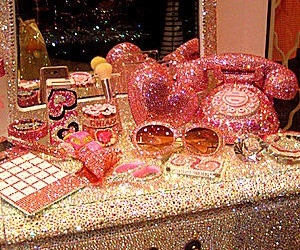 glitter, pink, and oh my gosh! is it pink? image