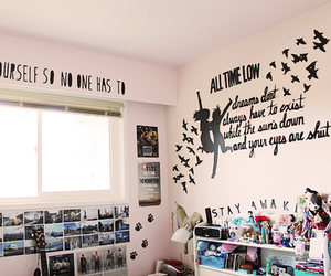 room, bedroom, and all time low image