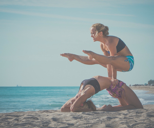 beach, fit, and florida image