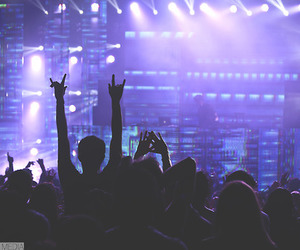 concert, fashion, and hands up image