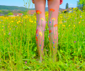 bodypainting, sister, and summer image