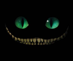 alice in wonderland, dark, and smile image