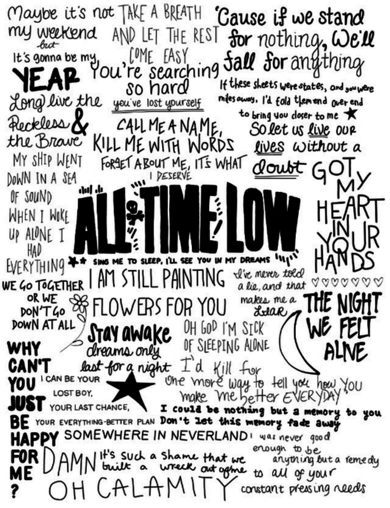 All Time Low song quotes on We Heart It