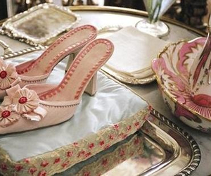 shoes, marie antoinette, and pink image