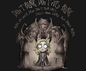 doctor who, weeping angels, and don't blink image