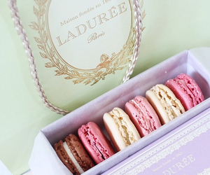 food, macarons, and delicious image