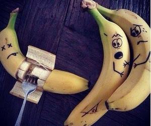 banana, funny, and fruit image