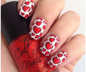 nails, lacquer, and red image