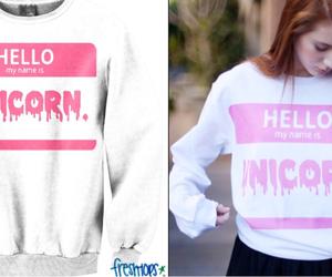 unicorn, pink, and hello image
