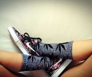 nike, shoes, and socks image