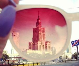 city, ray ban, and pink image
