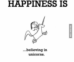 unicorn, happiness, and belive image
