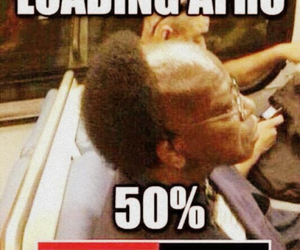 funny, Afro, and loading image