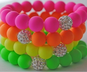 bracelets, colorful, and neon image