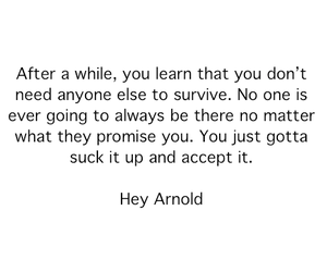 quote, hey arnold, and survive image