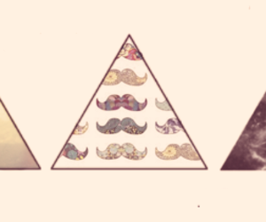 moustache, picture, and triangle image