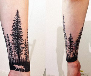tattoo, black, and tree image
