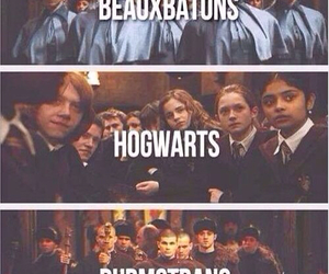 hogwarts, beauxbatons, and durmstrang image