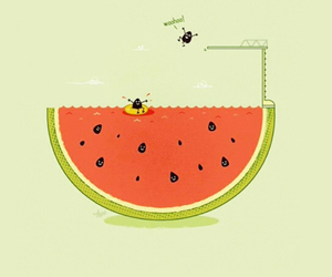cool, melon, and so image