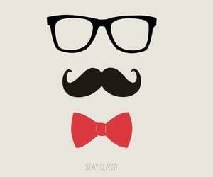 mustache, glasses, and classy image