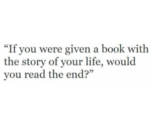 book, end, and read image