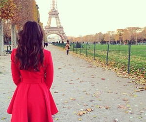 paris, girl, and red image