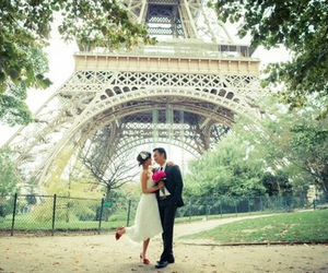 couple, marry, and paris image