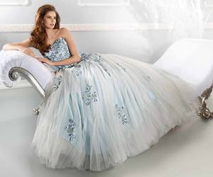 blue and wedding dress image