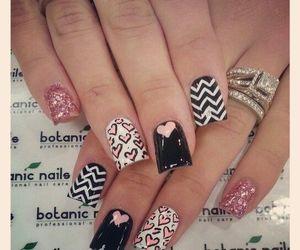 nail art, black, and nails image