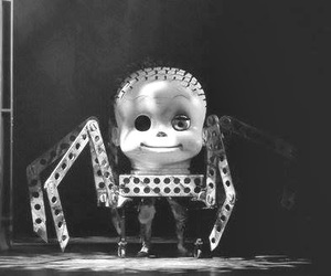 black and white, scare, and strange image