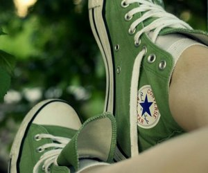 converse, fashion, and green image