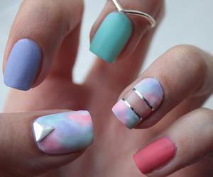 nails, nail art, and ring image