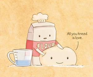 dough, cute, and love image